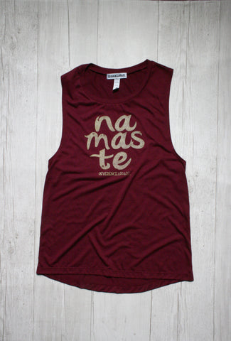 YOGA WINE FEELIN' FINE COLLAB RACERBACK TANK