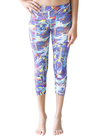 Candida Maria US Cool Wind Digital Capri Supplex, , Leggings, Candida Maria, Reverence Apparel   - 1