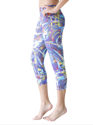 Candida Maria US Cool Wind Digital Capri Supplex, , Leggings, Candida Maria, Reverence Apparel   - 2