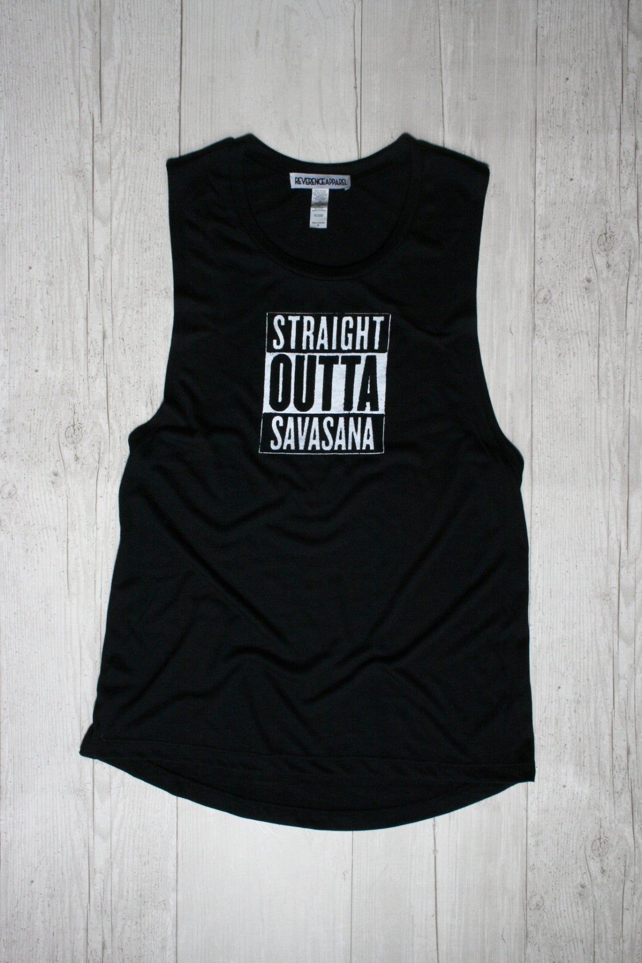 STRAIGHT OUTTA SAVANNA GRAPHIC YOGA TEE REVERENCE APPAREL