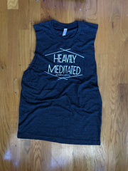 HEAVILY MEDITATED SLASHED BACK MUSCLE GRAPHIC TANK