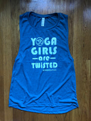 YOGA GIRLS ARE TWISTED SLEEVELESS MUSCLE TANK