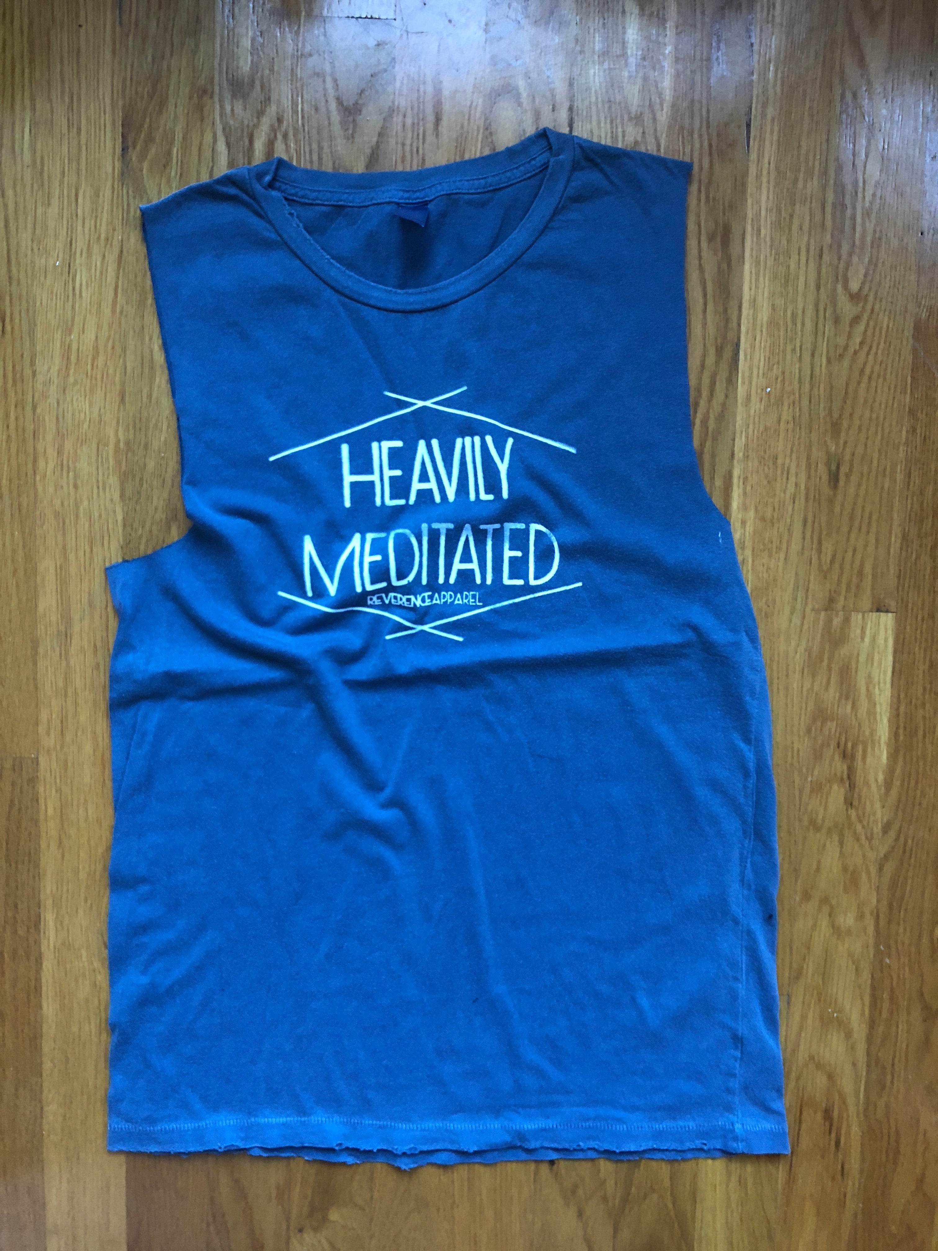 HEAVILY MEDITATED DISTRESSED MUSCLE TANK