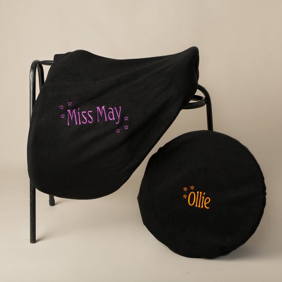 Personalised Saddle Cover & Bucket Cover Set