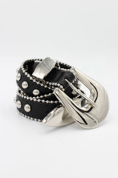 Long Studded Buckle Belt