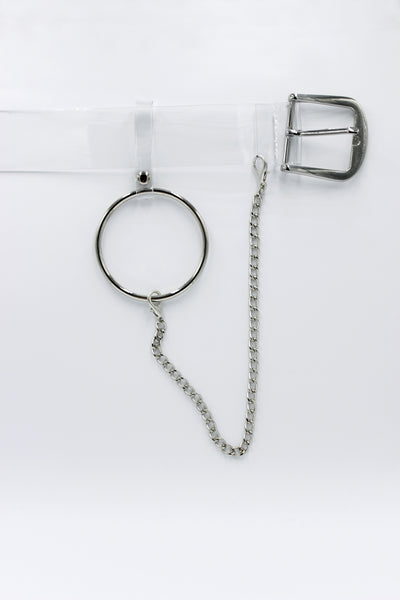 Clear Belt with Hoop and Chain