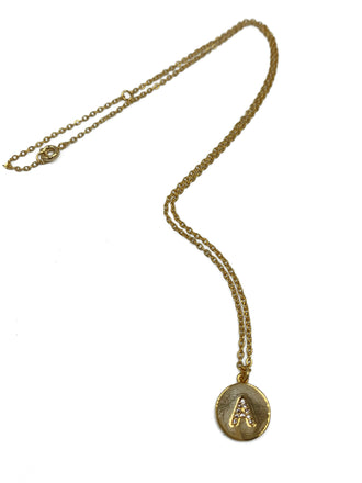 Gold Letter Pendant Necklace