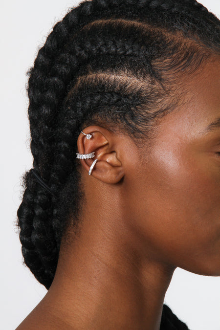 Gold Rhinestone Ear Cuff