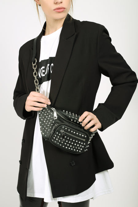 Leather Two-Tone Chain Bumbag