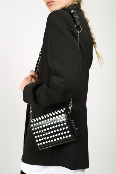 Absence of Colour Leather Two Way Studded Bag