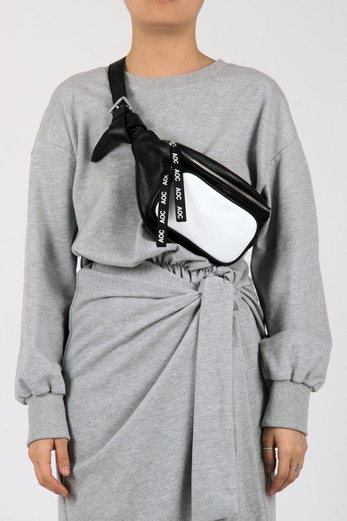 Absence of Colour Black and White Bum Bag