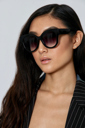 Oversized Round Ombre Sunglasses