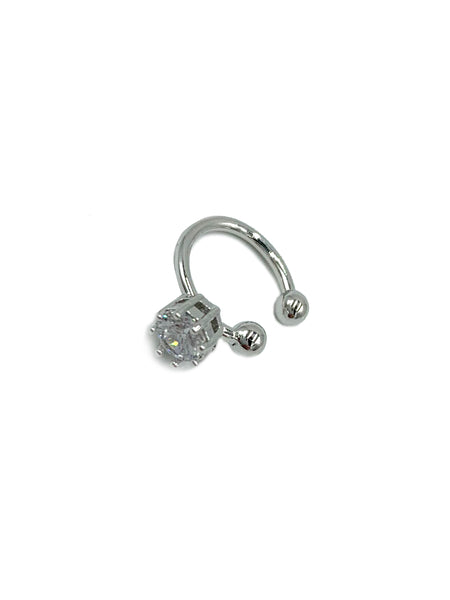 Single Rhinestone Ear Cuff