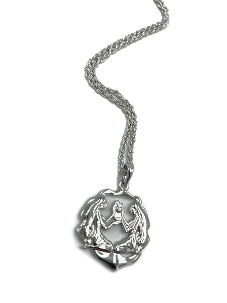 Silver Free-Shape Zodiac Pendant Necklace
