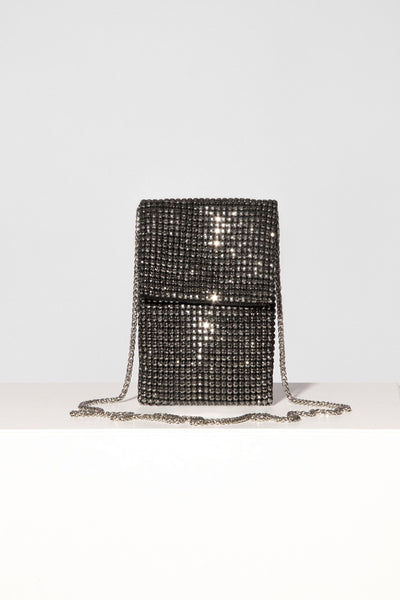 Black Chrystal Mobile Bag