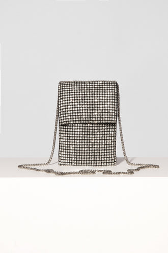 Silver Chrystal Mobile Bag