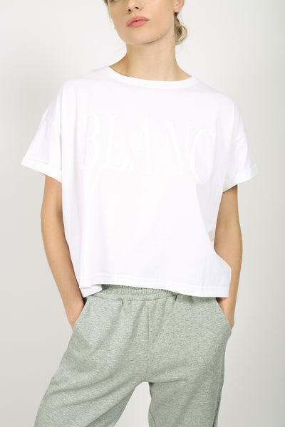 Absence of Colour YO Blanc Crop Top