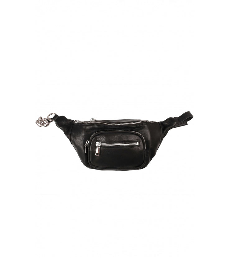 Leather Chain Bum Bag