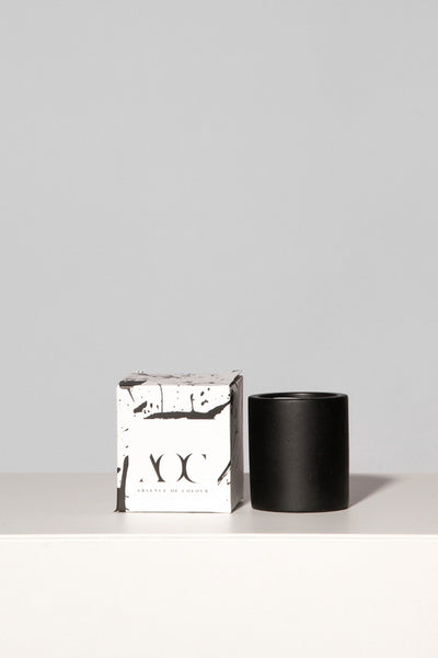 Small Black Concrete Candle