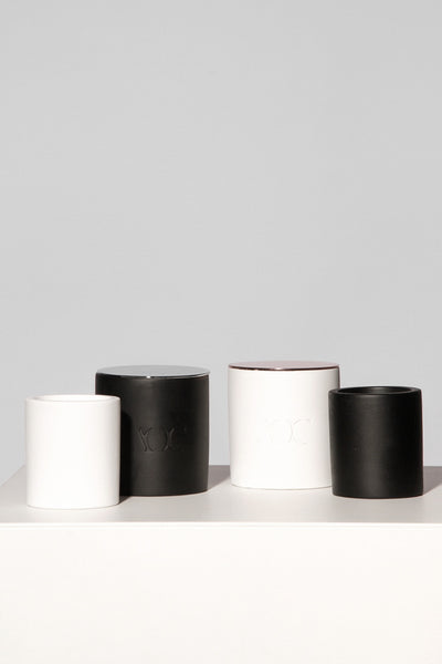 Black Concrete Candle with Lid