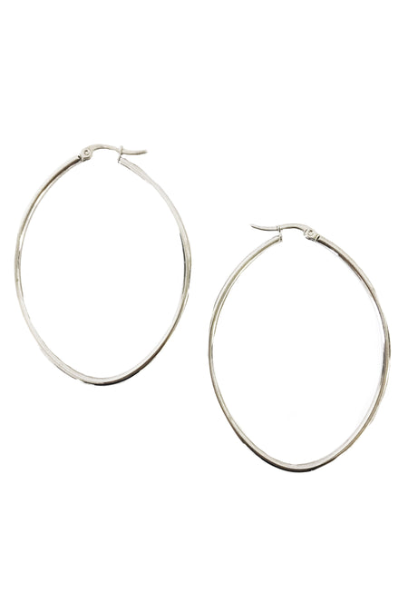Textured Large Gold Hoop Earrings