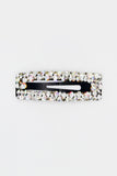 Rectangle Diamanté Hair Clip