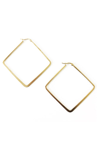 Square Gold Hoop Earrings