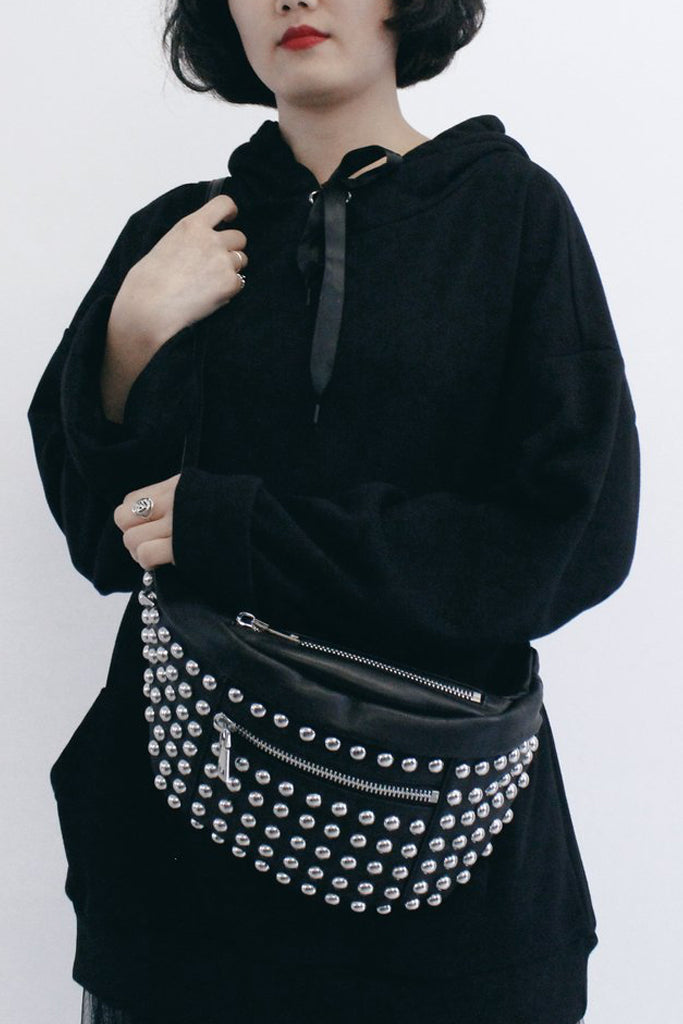 Absence of Colour Studded Bum Bag