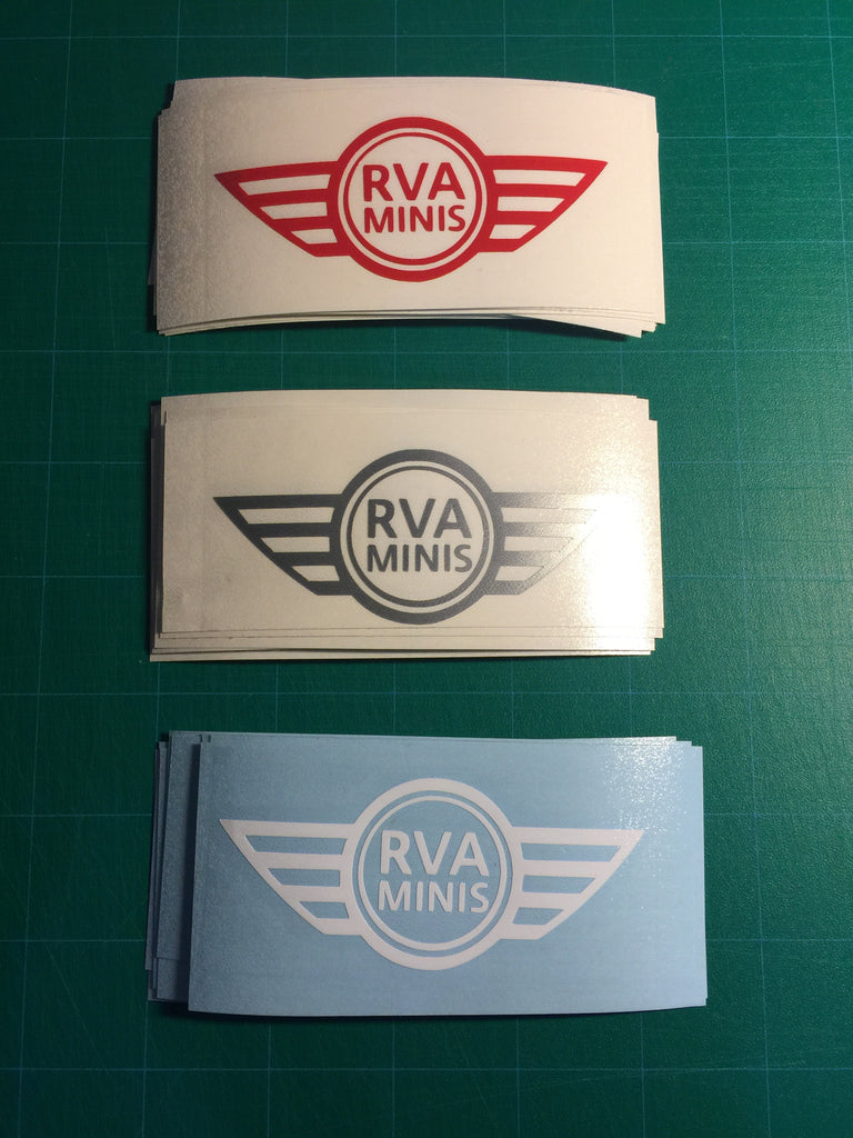 Rva minis single color stickers free shipping