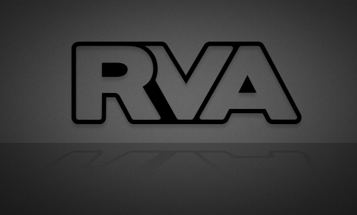 RVA Satin Black Outline - FREE SHIPPING