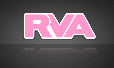 Pink & White RVA Sticker | RichmondStickers.com