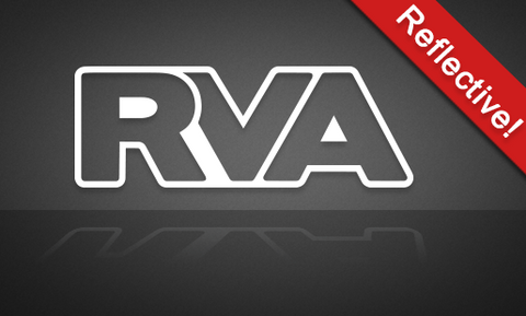"RVA ""Reflective"" White Outline - FREE SHIPPING"