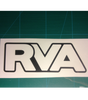 Satin Black RVA Sticker