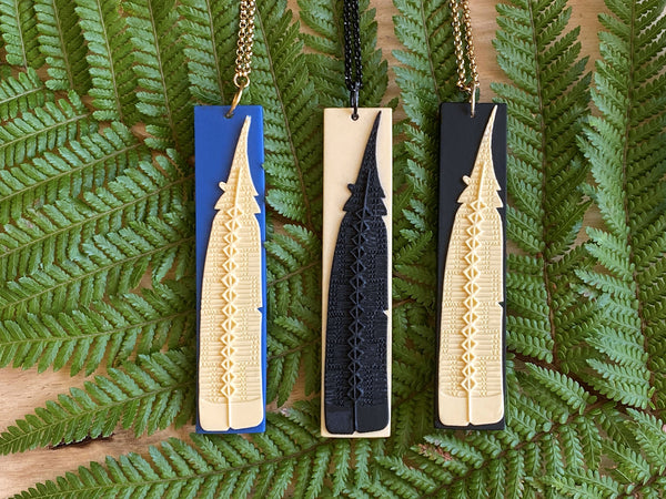 Revived Huia Feather Pendant