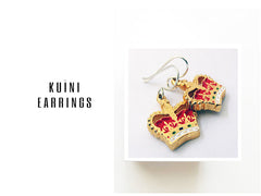 KUINI CROWN EARRINGS - NZ-Designer-Jewellery, taniatupu - Tania-Tupu