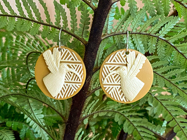 Sing to Me Huia Disc Earrings