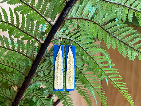 Earrings of the Revived Huia Feather
