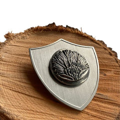 Pohutukawa Military Shield Brooch