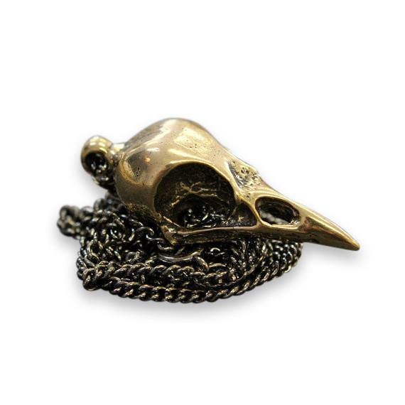 Crow Skull Pendant Necklace