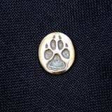 Sterling Silver Wolf Track Ascot Stickpin - Moon Raven Designs