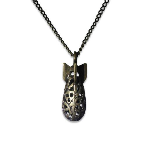 Skull Bomb Pendant Necklace - Moon Raven Designs
