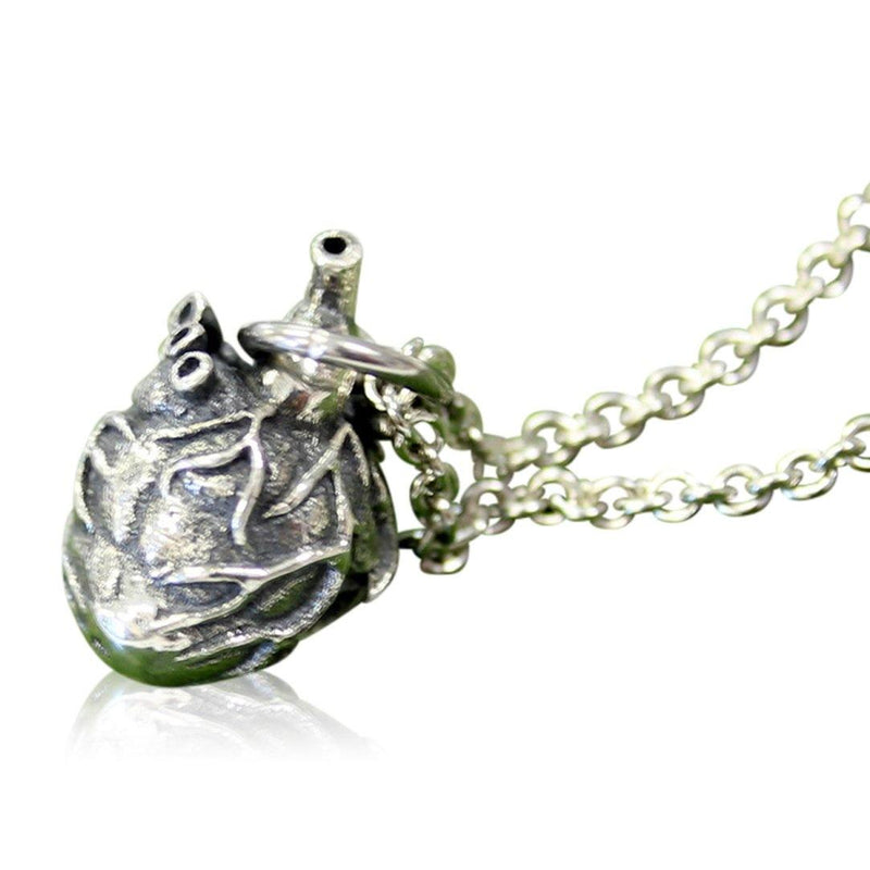 Anatomical Heart Charm Necklace - Moon Raven Designs