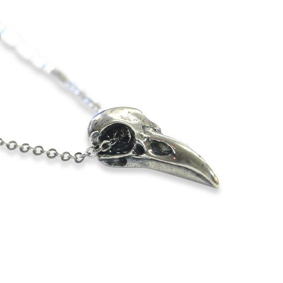 Raven Skull Pendant Necklace - Moon Raven Designs