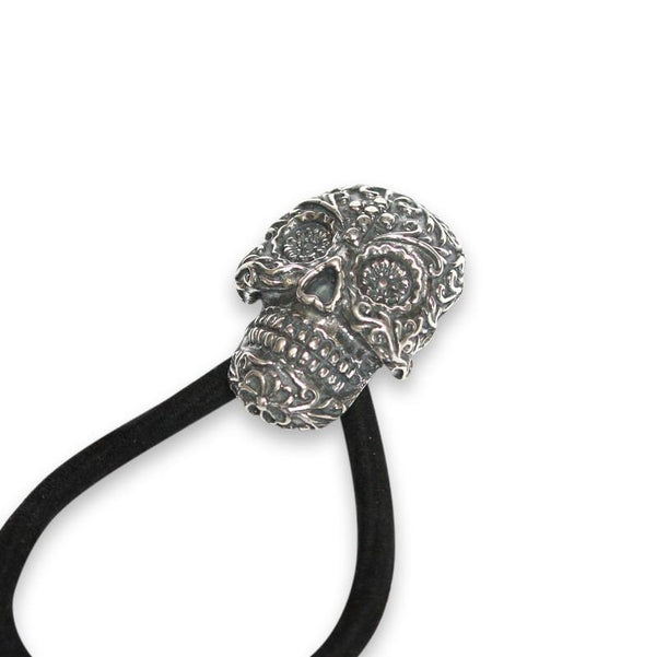Sugar Skull Necklace Pony Tail Holder - Moon Raven Designs