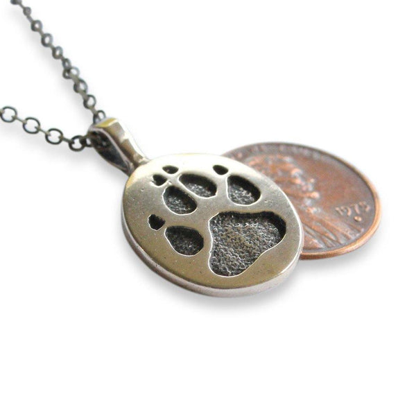 Wolf Track Pendant Necklace