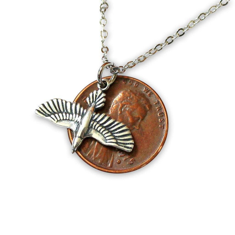 Soaring Raven In Flight Pendant Necklace - Moon Raven Designs
