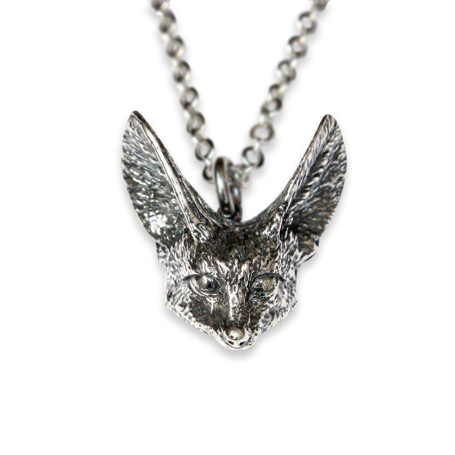 Fennec Fox Head Pendant Necklace - Moon Raven Designs