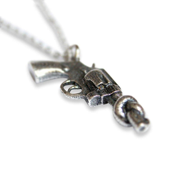 Knotted Gun Non-Violence Pendant Necklace