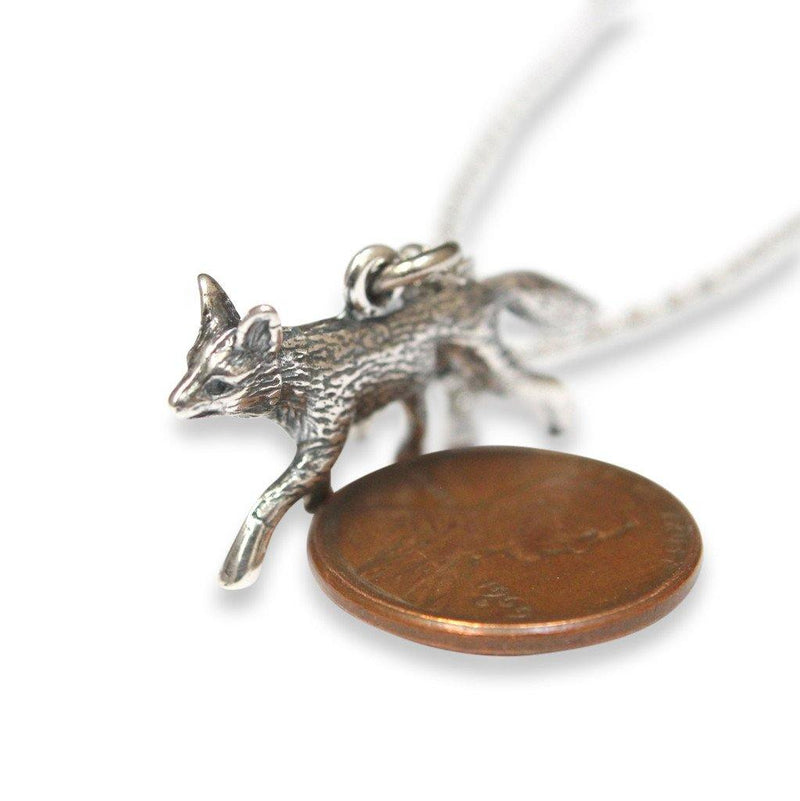 Trotting Fox Pendant Necklace - Moon Raven Designs