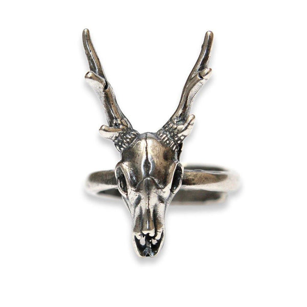 Stag Deer Skull Ring - Moon Raven Designs